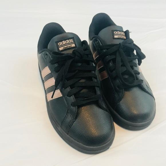 92762963d30 adidas Shoes - ADIDAS NEO CLOUD FOAM BLACK   ROSE GOLD ...